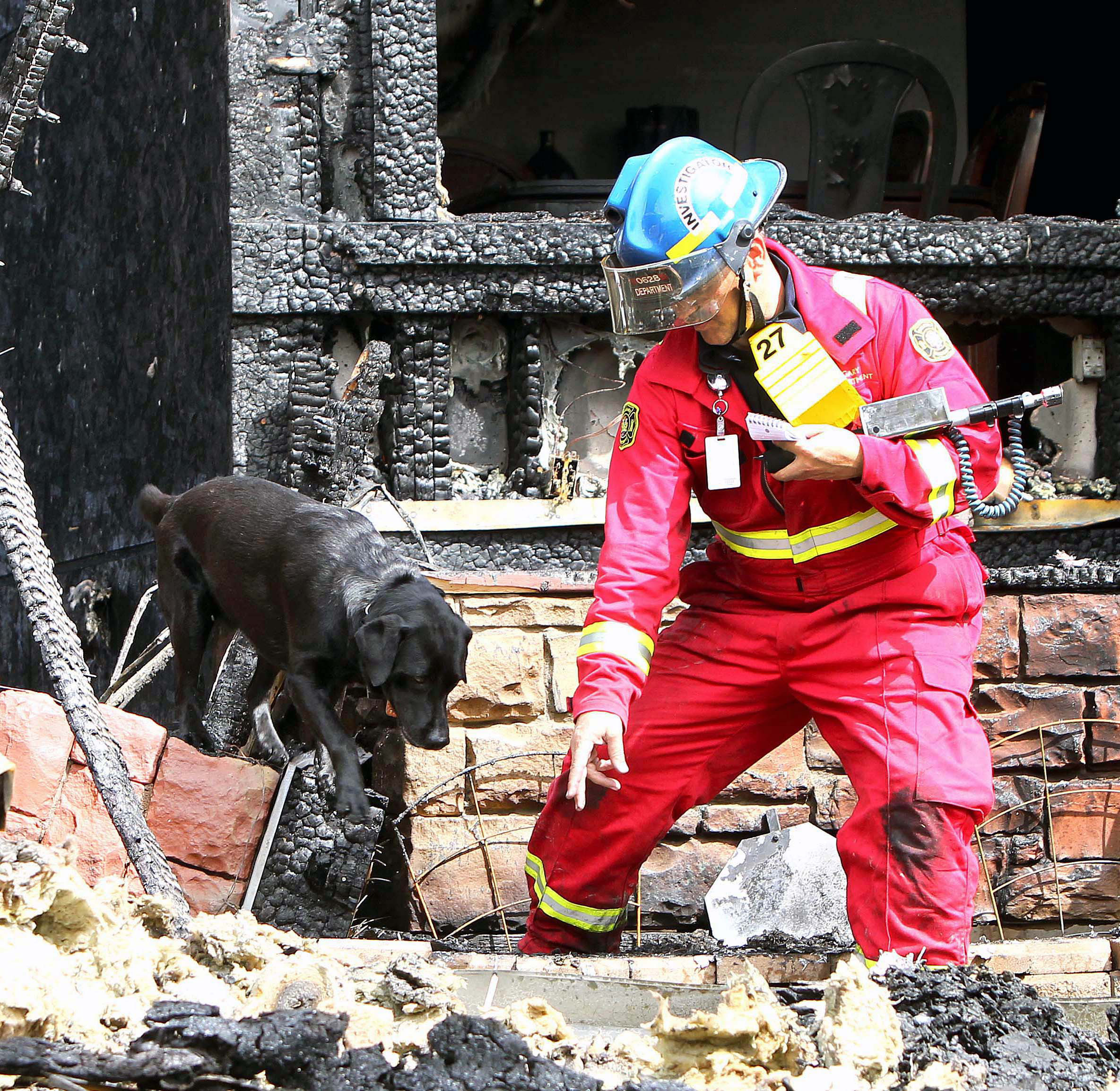 Fire investigator and K9 partner