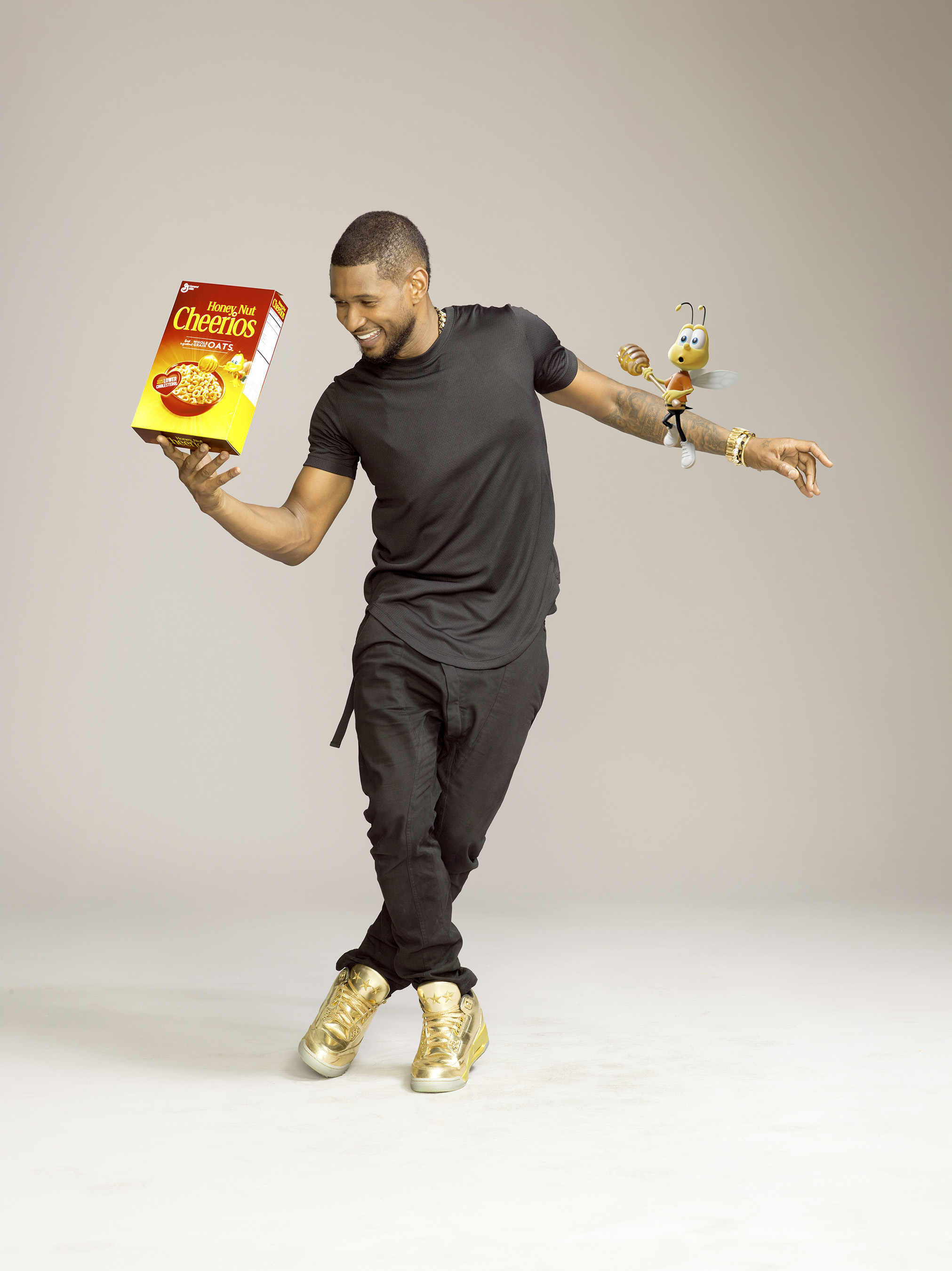 Music superstar Usher joins Honey Nut Cheerios™ in new campaign encouraging people to celebrate happy and healthy moments