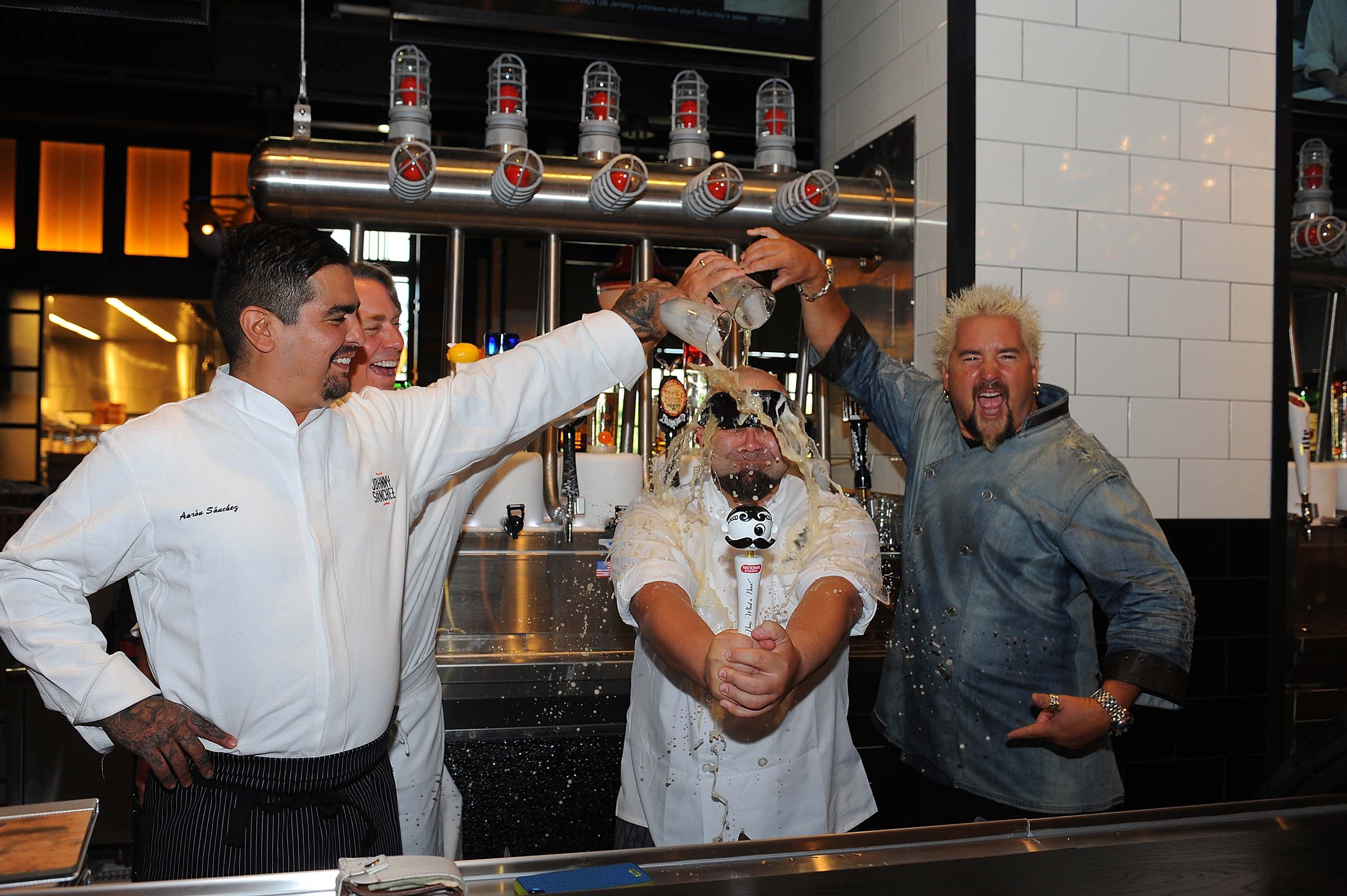 Celebrity Chefs Aaron Sanchez, John Besh, Duff Goldman and Guy Fieri celebrate the grand opening of Horseshoe Casino Baltimore on August 26, 2014. PHOTO CREDIT: Larry French