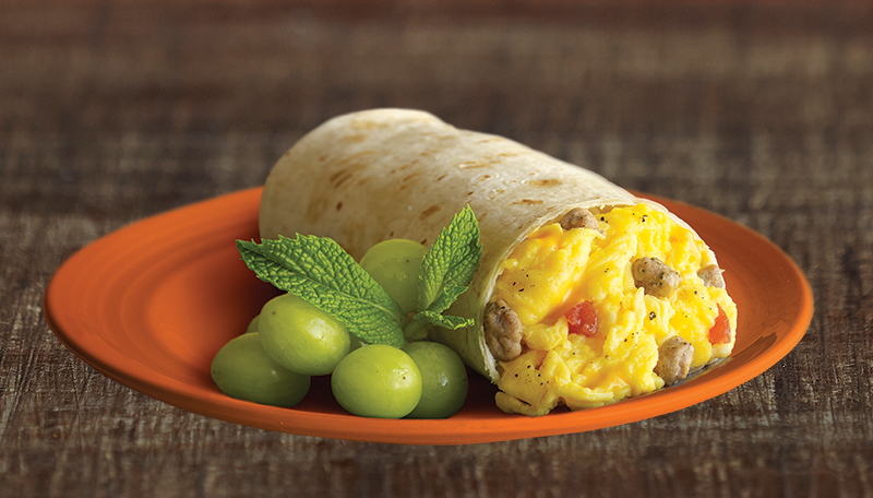 El Monterey Breakfast Burritos, made with real ingredients like scrambled eggs, pork sausage, cheddar cheese and fresh-baked flour tortillas, can be an excellent source of protein for kids this school year.