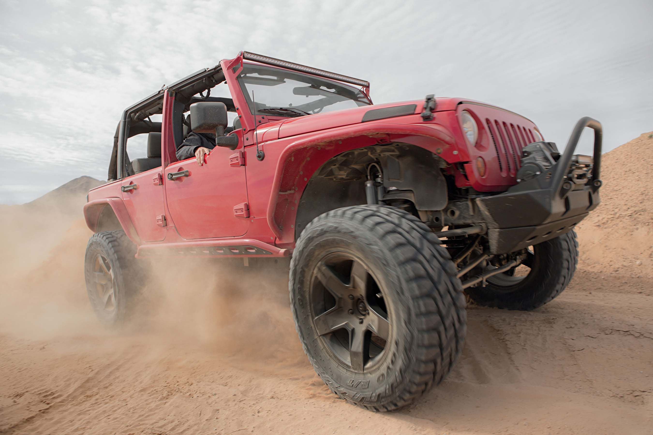 The new Toyo® Open Country® R/T by Toyo Tires® is backed by a 45,000-mile warranty and the Toyo Tires No Regrets® 45-Day/500-Mile Trial Offer. (See ToyoTires.com for details.)