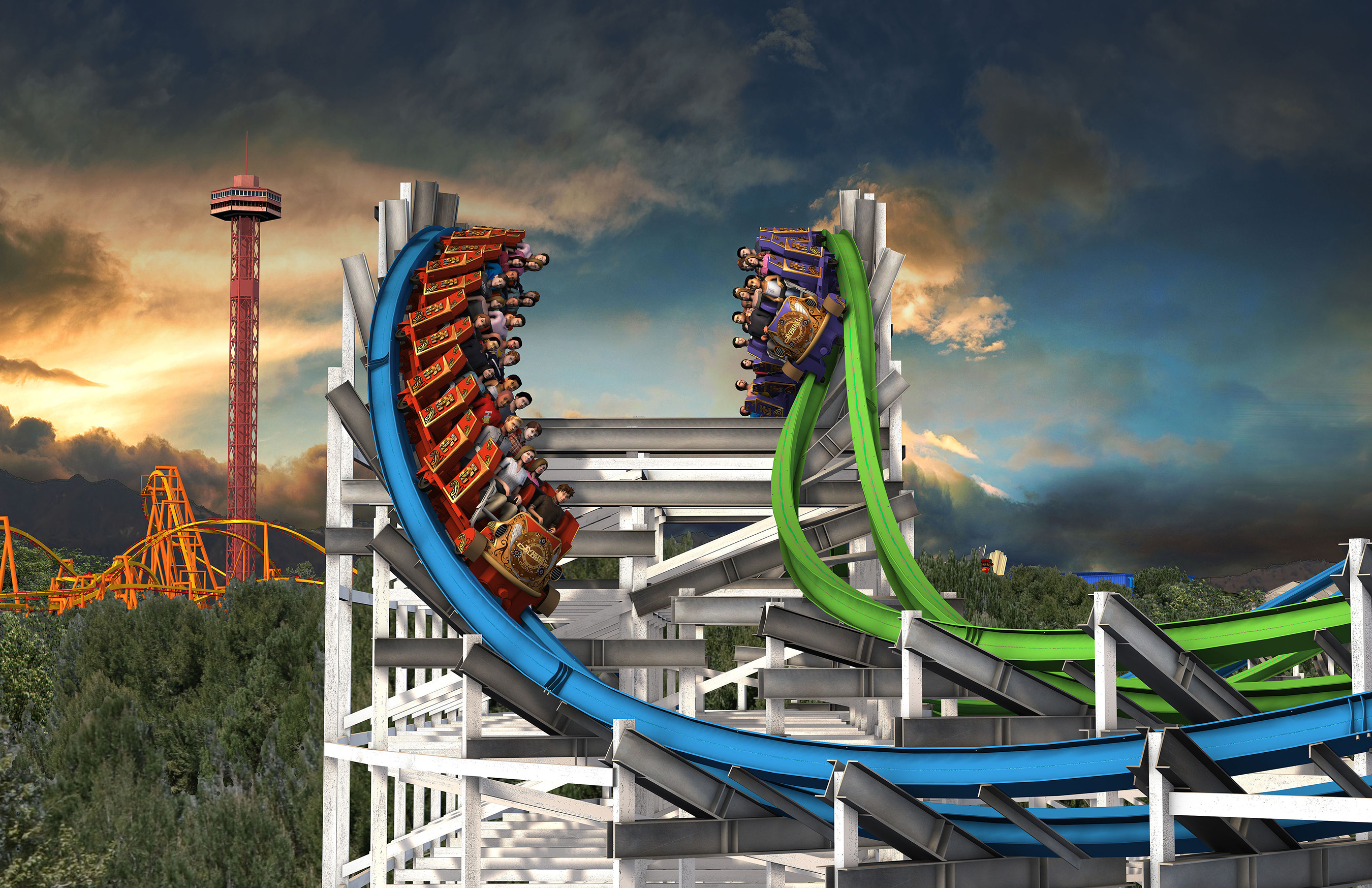 Twisted Colossus - NEW at Six Flags Magic Mountain - Spring 2015