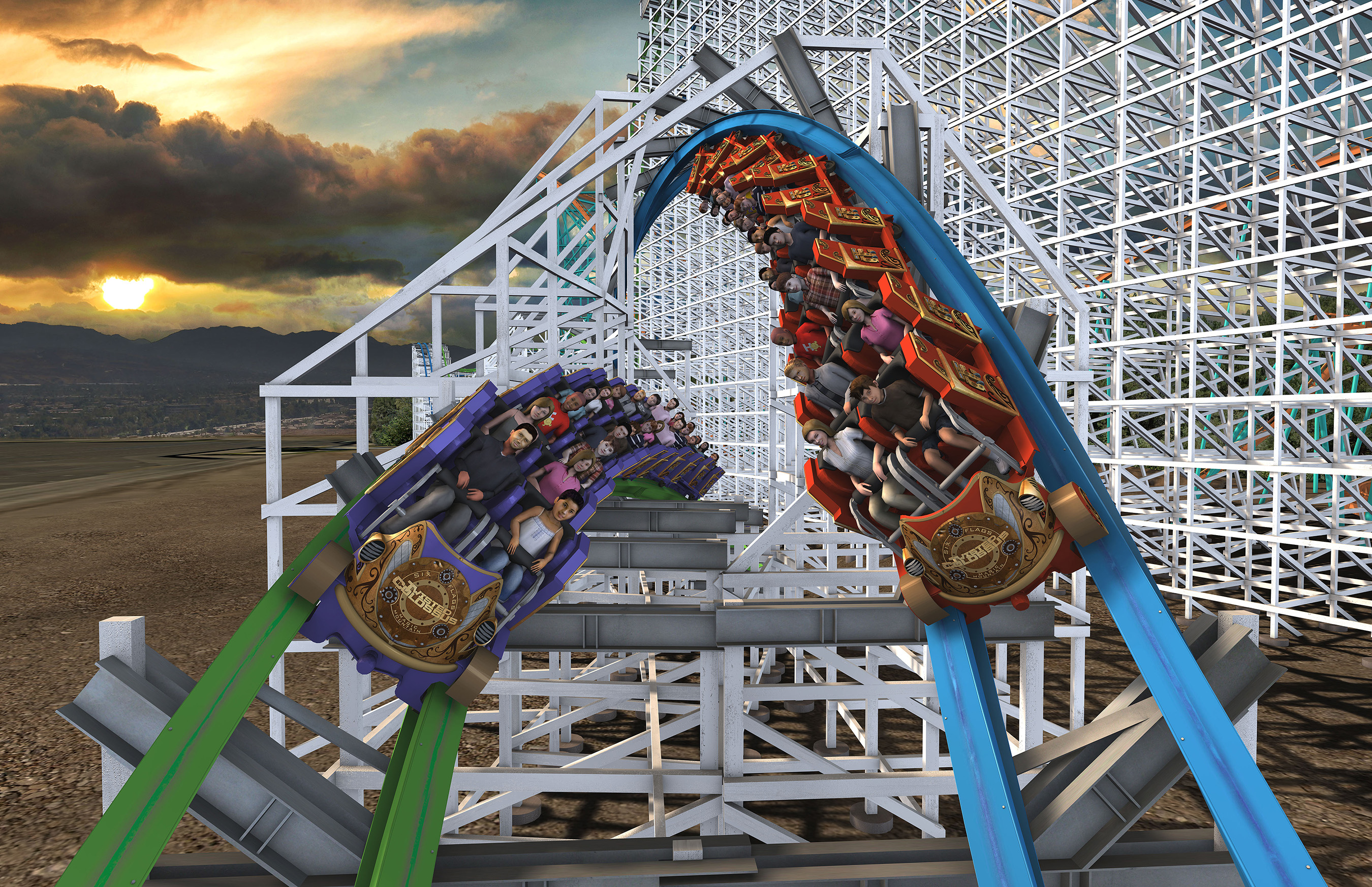 "Six Flags Magic Mountain Announces Record-Breaking Coaster, ""Twisted Colossus"""