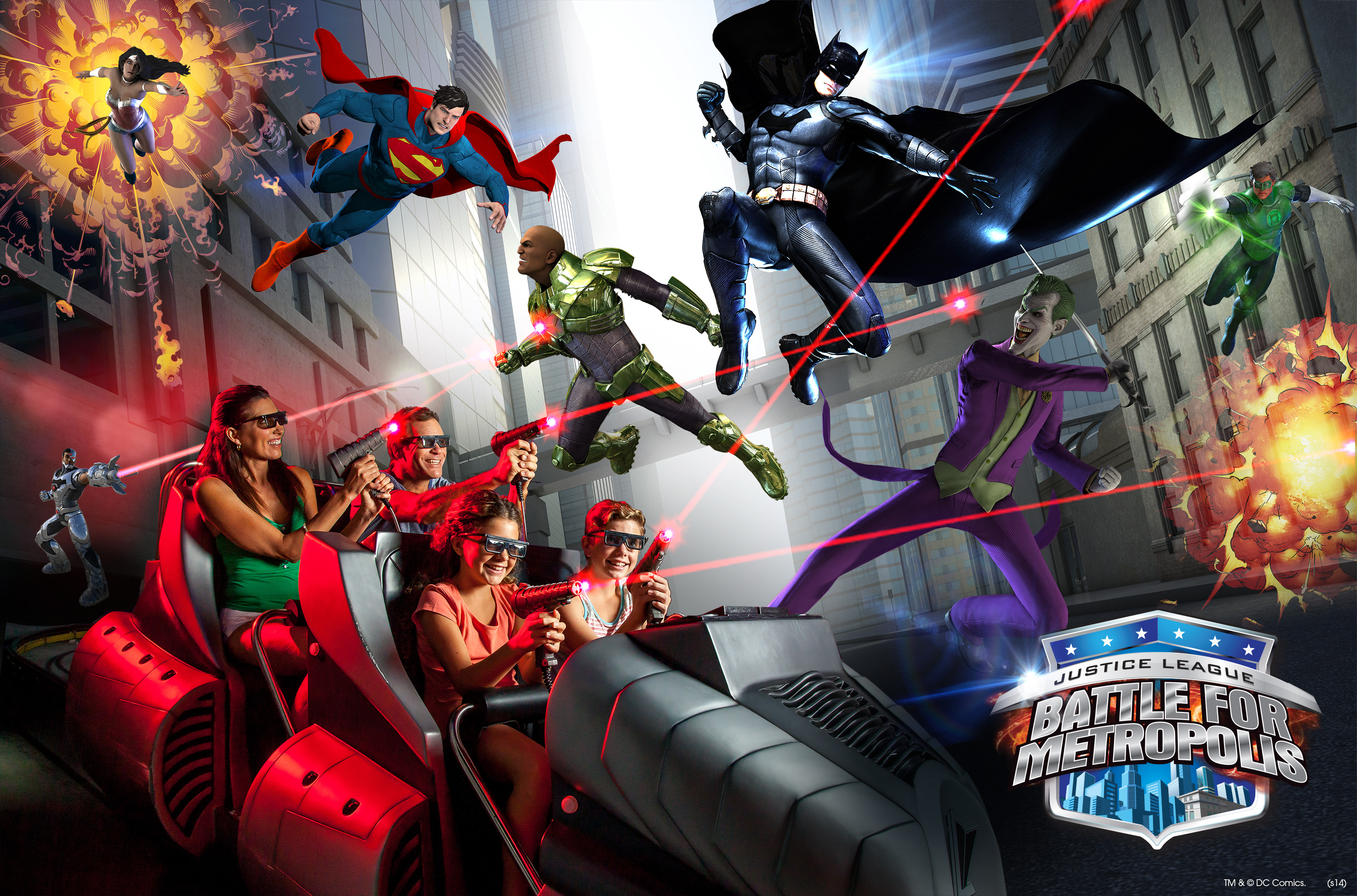 JUSTICE LEAGUE: BATTLE FOR METROPOLIS – NEW at Six Flags Over Texas and Six Flags St. Louis - Spring 2015