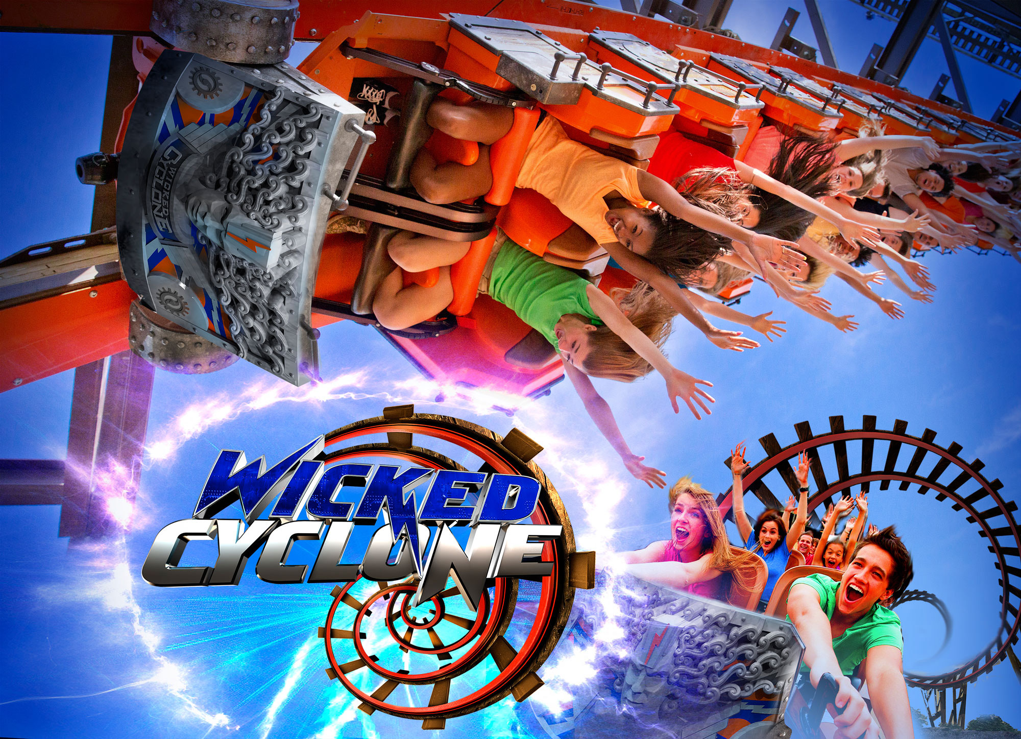 Wicked Cyclone - NEW at Six Flags New England -Spring 2015