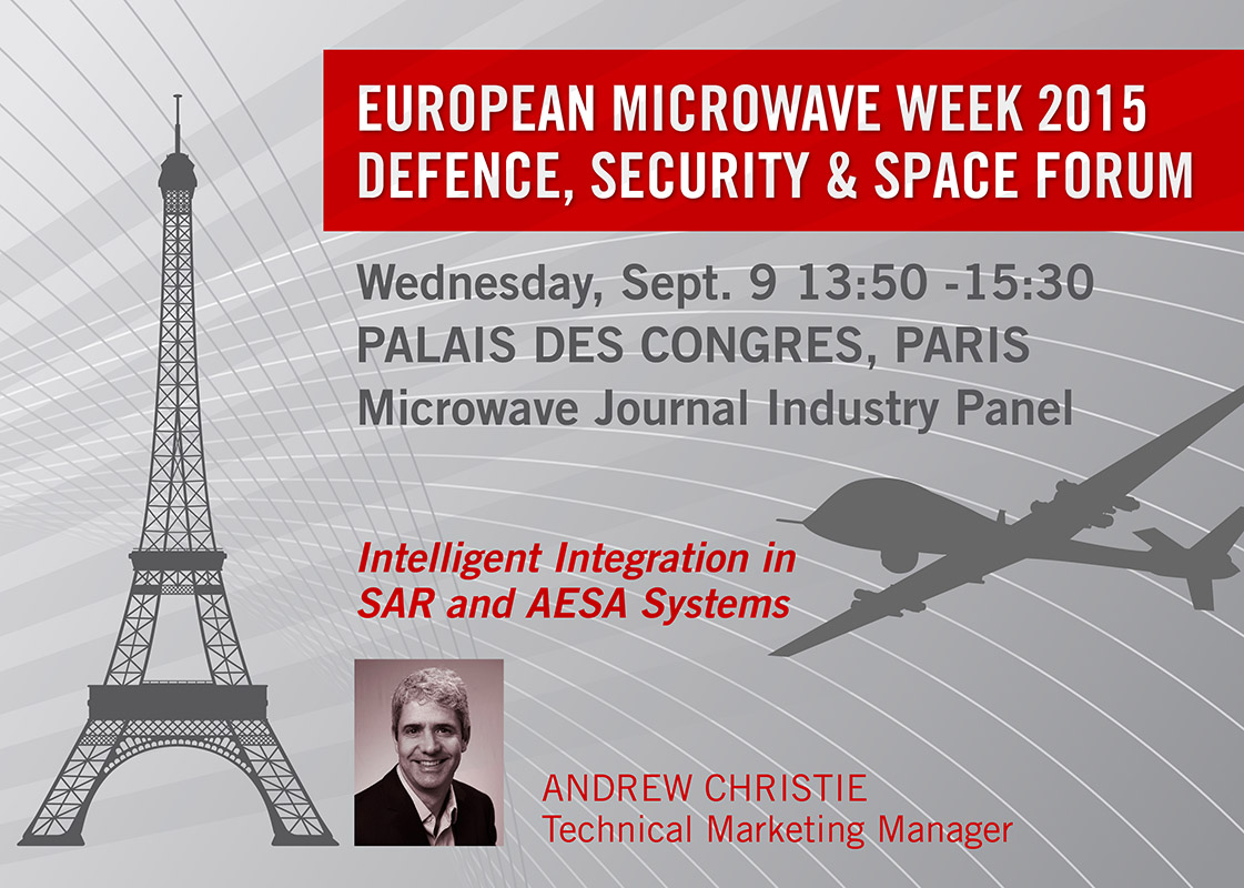 "Peregrine Semiconductor will speak on ""Intelligent Integration in SAR and AESA Systems"" at European Microwave Week 2015 Defense, Security and Space Forum."