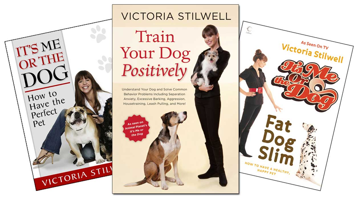 Victoria's best-selling books are available on the Positively.com site, including 'It's Me or the Dog: How to Have the Perfect Pet' and the acclaimed 'Train Your Dog Positively.'