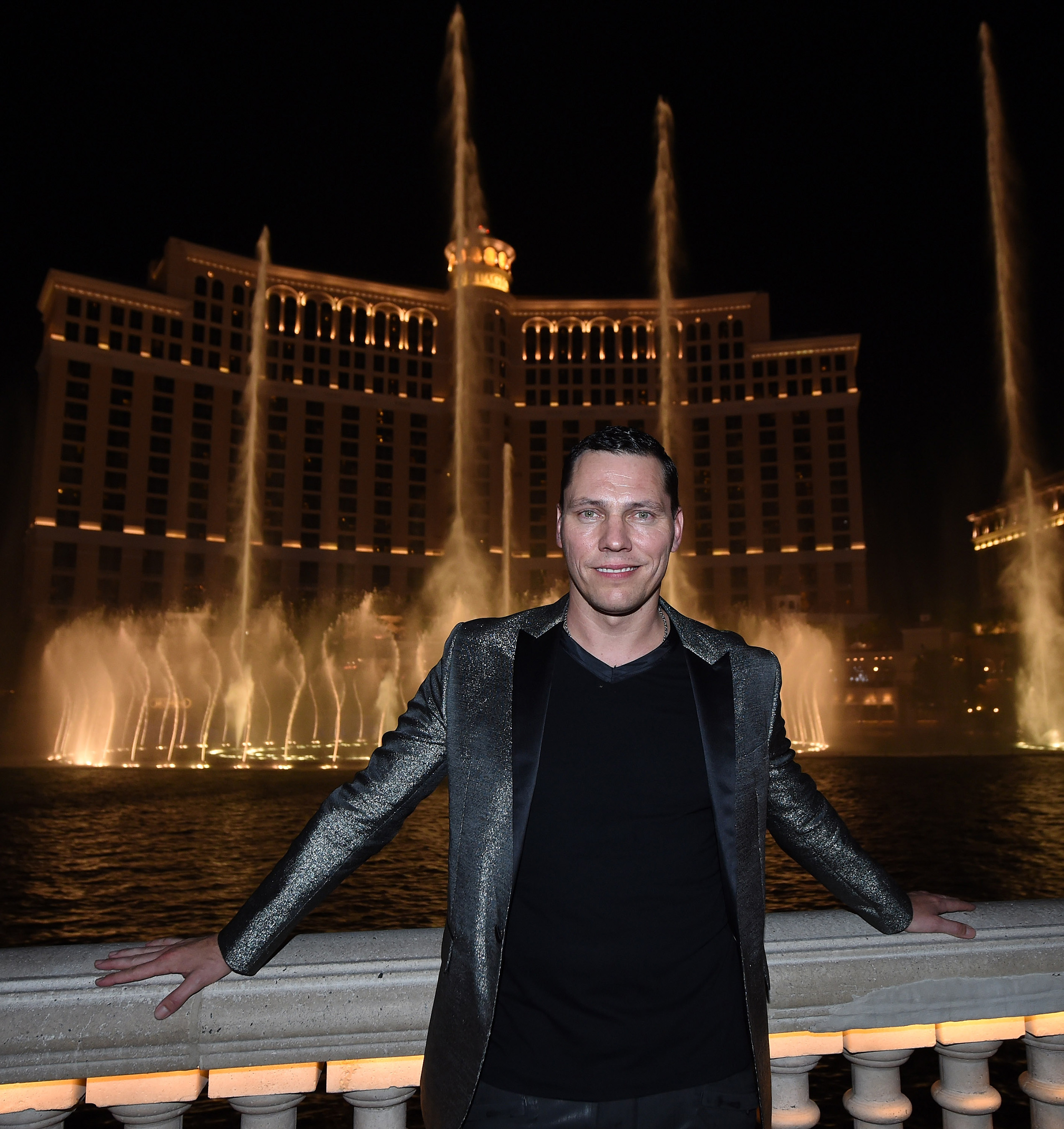On Sept. 17, Tiesto unveiled the newest Fountains of Bellagio show set to three songs off of his new album, A Town Called Paradise. (Credit Ethan Miller for Bellagio)