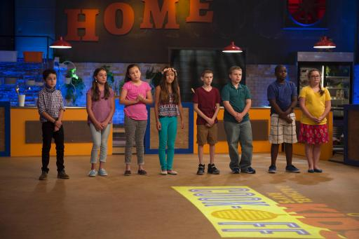 The Kidtestants Line Up on Food Network's Rachael Ray's Kids Cook-Off