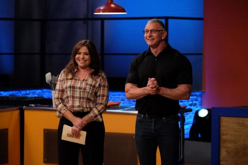 Host Rachael Ray with Guest Robert Irvine on Food Network's Rachael Ray's Kids Cook-Off