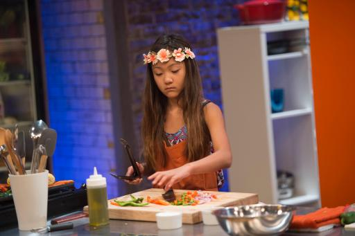 Kidtestant Olivia on Food Network's Rachael Ray's Kids Cook-Off