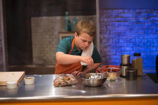 Kidtestant Zach on Food Network's Rachael Ray's Kids Cook-Off
