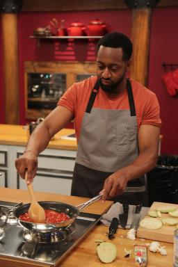 Contestant Jaleel White on Food Network's Worst Cooks in America Celebrity Edition