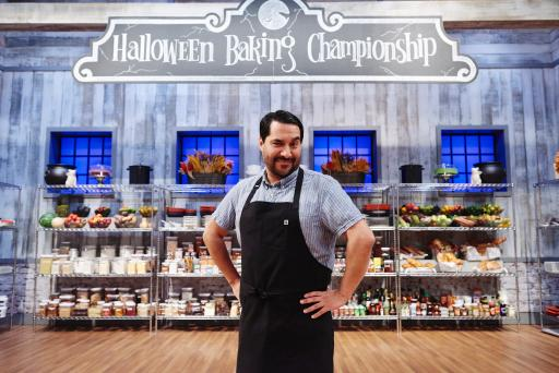 Contestant Rudy Martinez on Food Network's Halloween Baking Championship