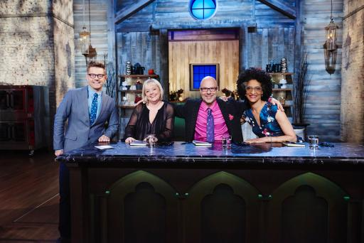 Host Richard Blais with judges Sherry Yard, Ron Ben-Israel and Carla Hall