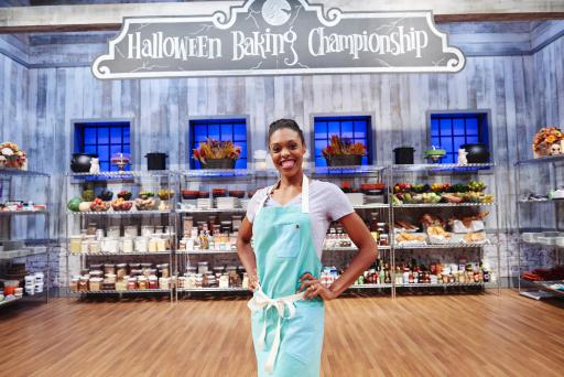 Contestant Erin Cooper on Food Network's Halloween Baking Championship