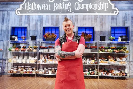 Contestant Jason Hisley on Food Network's Halloween Baking Championship