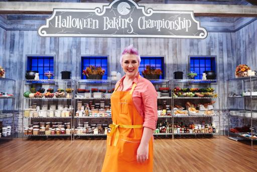 Contestant Ashlee Prisbrey on Food Network's Halloween Baking Championship
