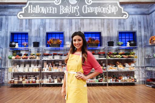 Contestant Audrey Alfaro on Food Network's Halloween Baking Championship