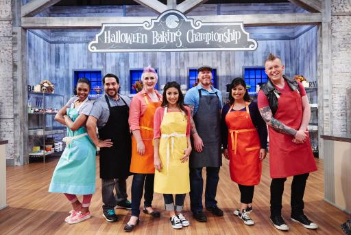 Contestants of Food Network's Halloween Baking Championship