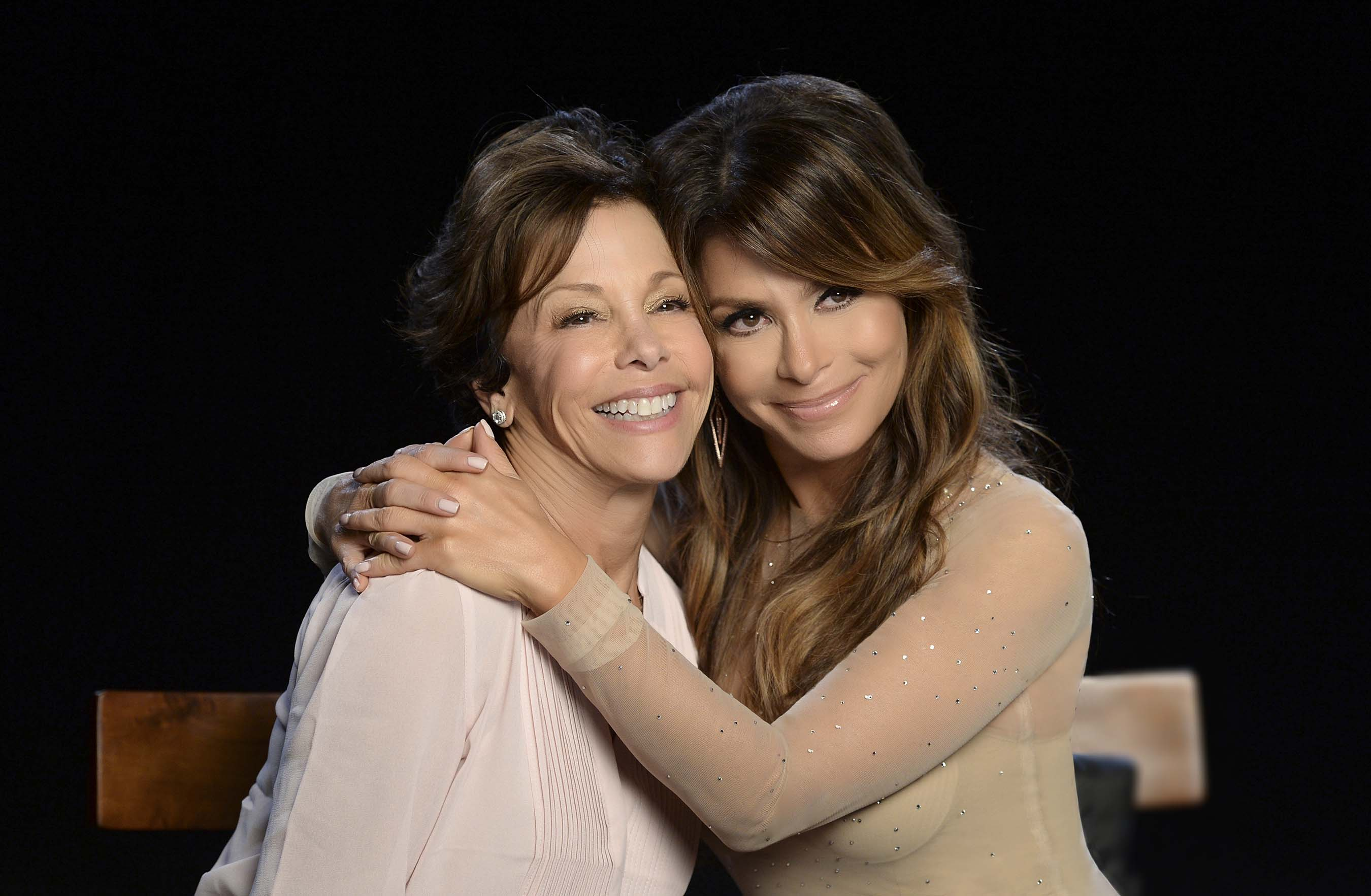 Paula Abdul on set with sister and breast cancer survivor Wendy Emkin at Quixote Studios on September 5, 2014 in Los Angeles to launch the Avon Foundation's #CheckYourself for Breast Cancer campaign. To learn more about the #CheckYourself campaign visit www.avonfoundation.org/checkyourself.