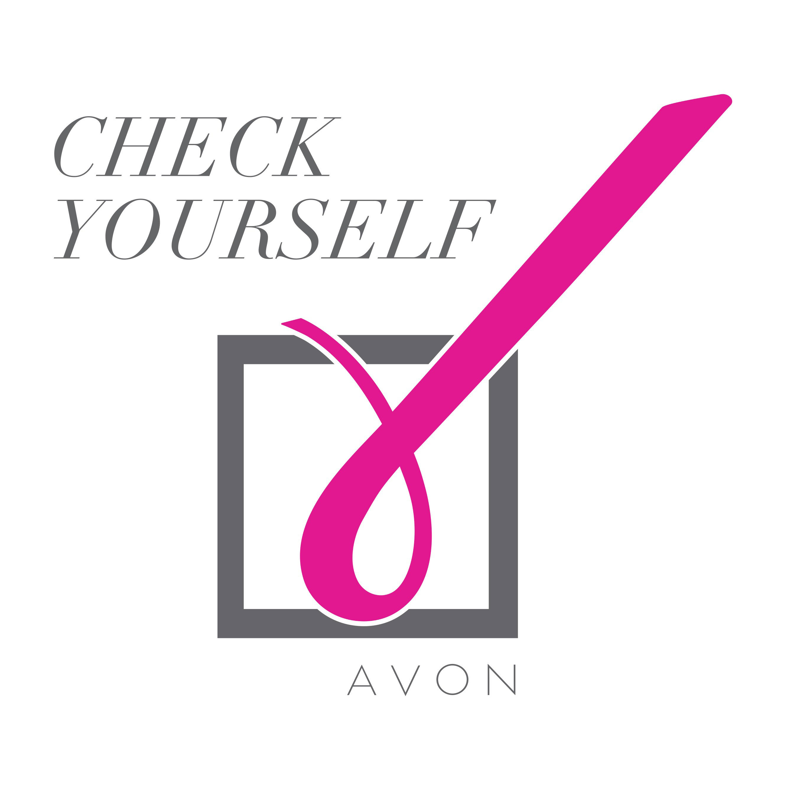 Avon Foundation launches new #CheckYourself logo for Breast Cancer Awareness Month