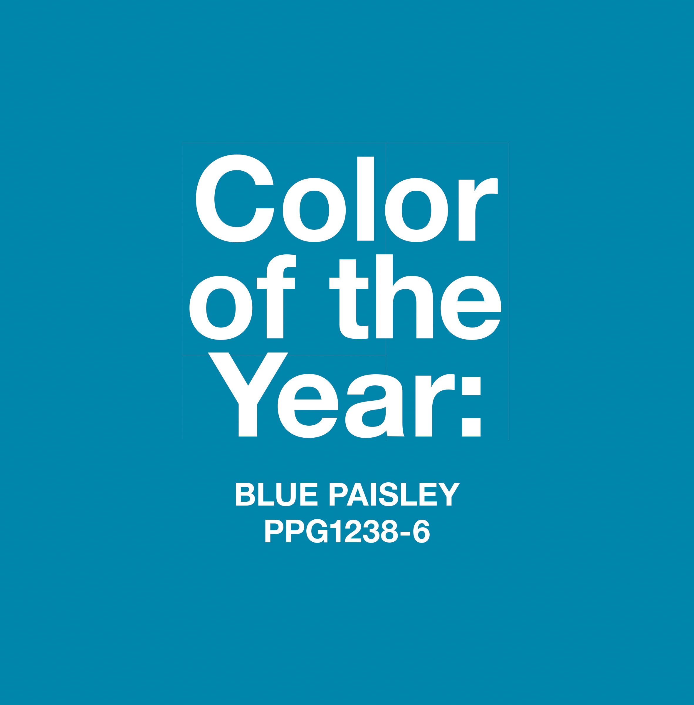 The PPG Pittsburgh Paints 2015 Color of the Year, Blue Paisley, is enthusiastically positive and represents possibility. The color has global ties, a bohemian flare and is reminiscent of mosaic stones.