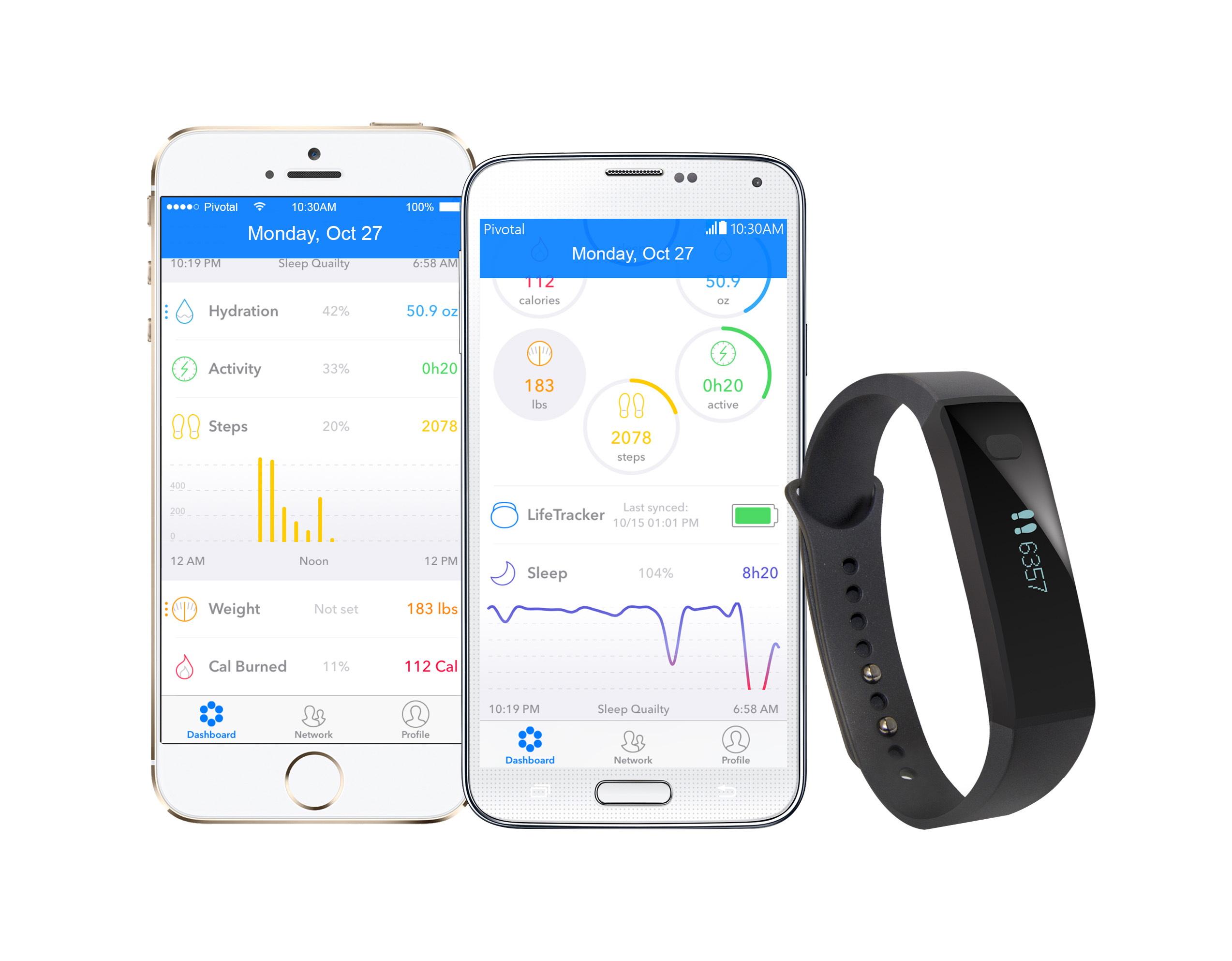 Exceptional ... Pivotal Living IOS, Android App + Life Tracker 1 Band ...