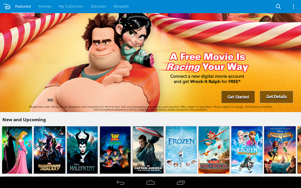 Discover new and classic Disney Movies on Disney Movies Anywhere on Android Devices via Google Play © 2014 ...