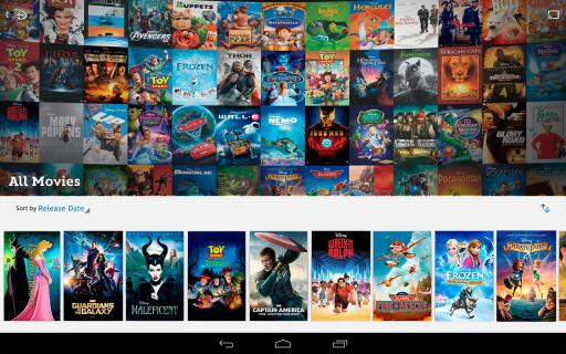 Discover new and classic Disney Movies on Disney Movies Anywhere on Android Devices via Google Play.