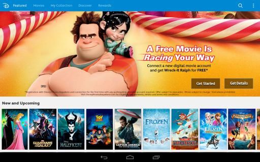 Discover new & classic Disney Movies on Disney Movies Anywhere on Android Devices via Google Play