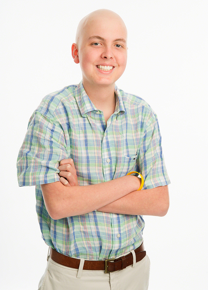 Adam was diagnosed with B-cell acute lymphoblastic leukemia (ALL) in July 2014.