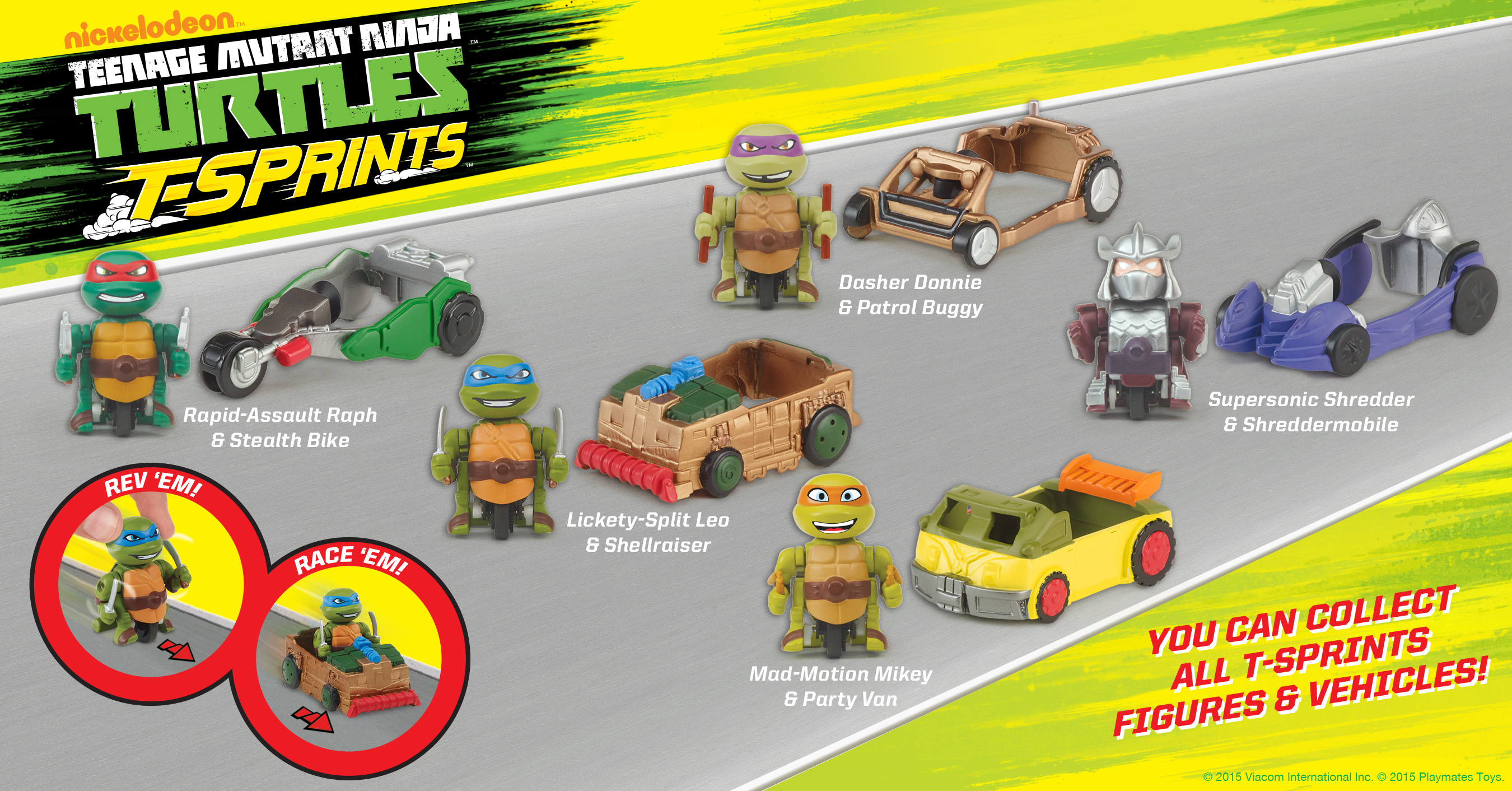 T-Sprints Figures and Vehicles