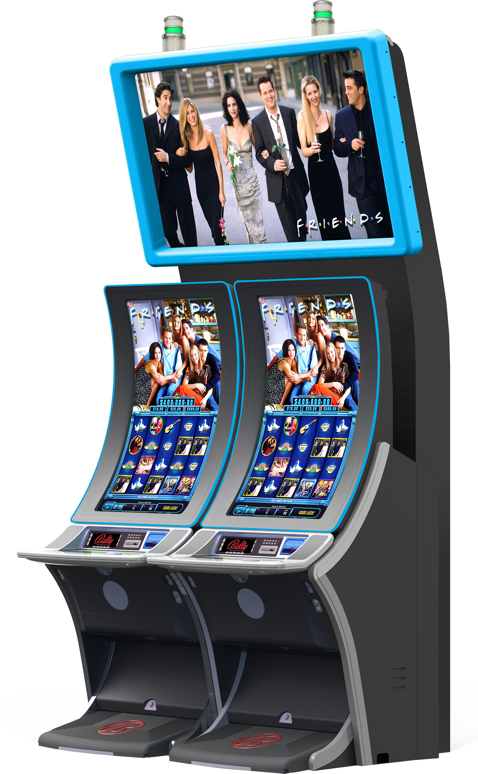 The FRIENDS™ video slot from Bally reunites players with the beloved characters from the worldwide hit comedy that TV Guide Magazine named one of the 50 greatest shows of all time.