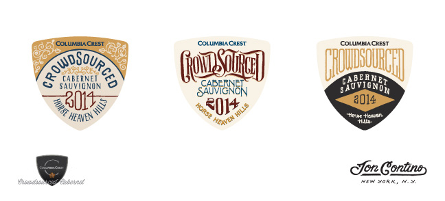 Columbia Crest partnered with award-winning designer Jon Contino to develop three label options for the 2014 vintage. This is your chance to decide what the first ever Crowdsourced Cabernet will look like. Head to CrowdsourcedCabernet.com to vote.
