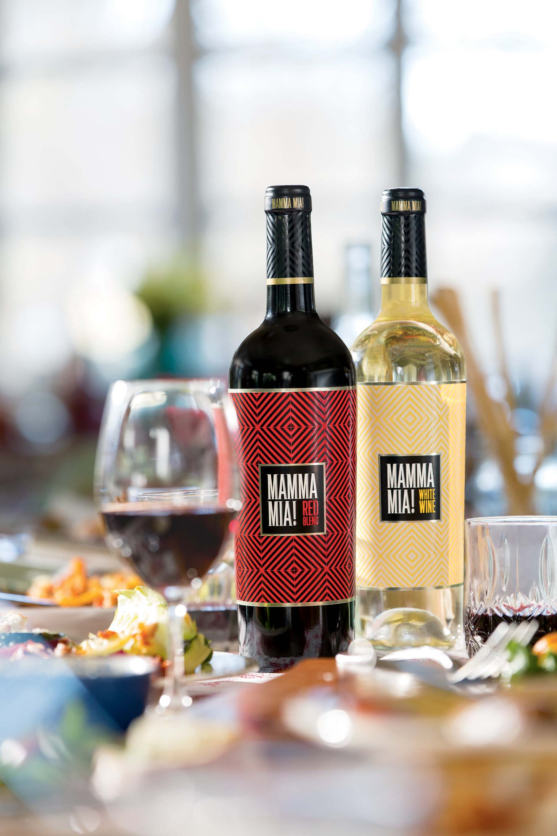 Available nationwide, Mamma Mia Red Blend and Mamma Mia White Blend are wines to share around crowded tables filled with family, friends, laughter and—and of course, delicious food.