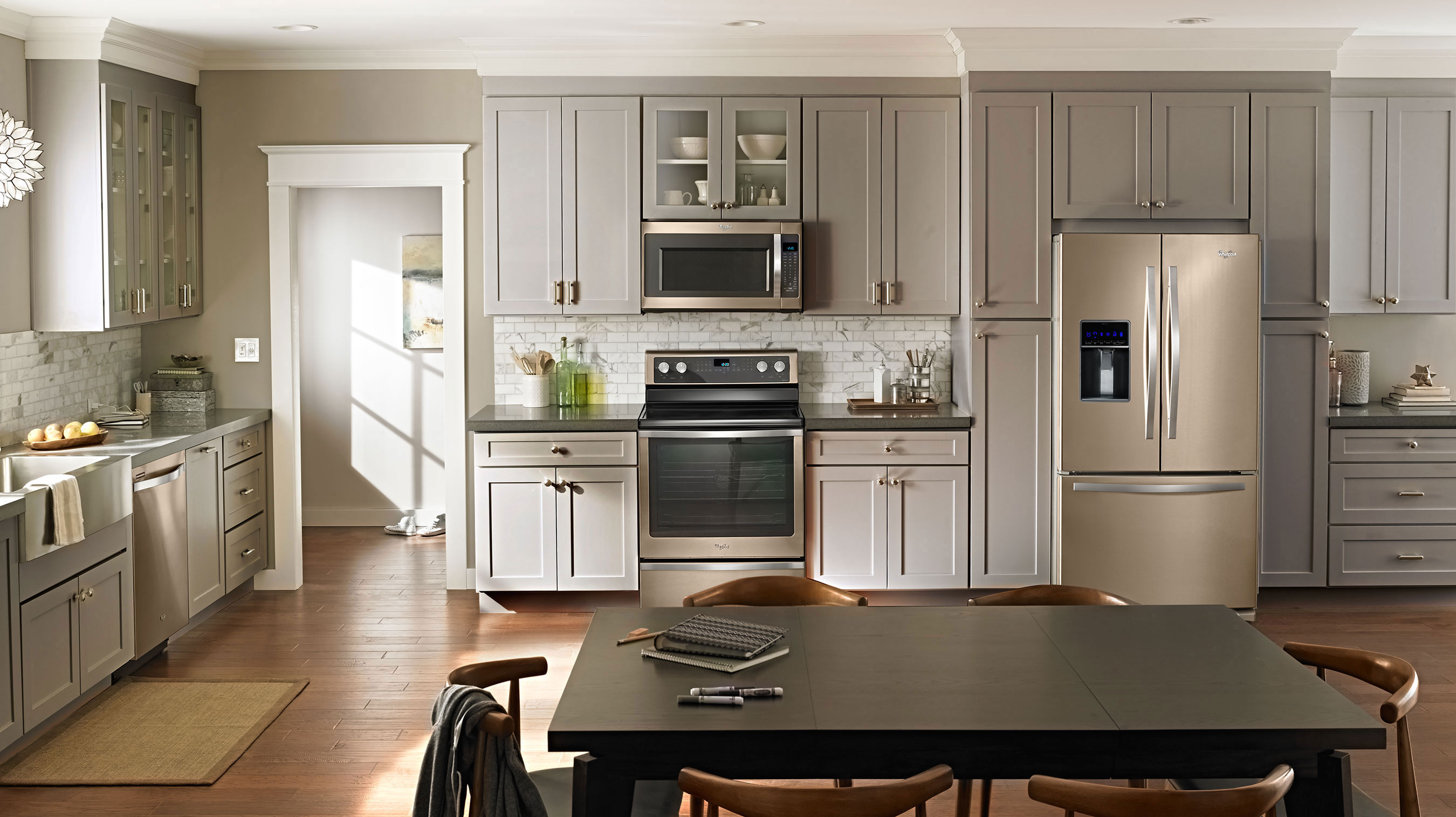 Must-Have Amenities for the Home, Featuring Whirlpool® Brand Sunset Bronze Kitchen Suite