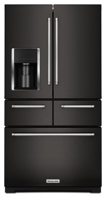 KitchenAid Black Stainless 5-Door Freestanding Refrigerator