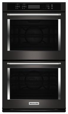 KitchenAid Black Stainless Steel Double Wall Oven