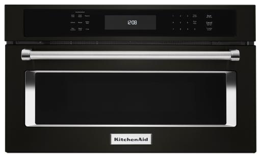 KitchenAid Black Stainless Built In Microwave Oven With Convection Cooking