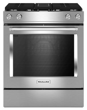 KitchenAid Dual Fuel Slide-In Range with Downdraft
