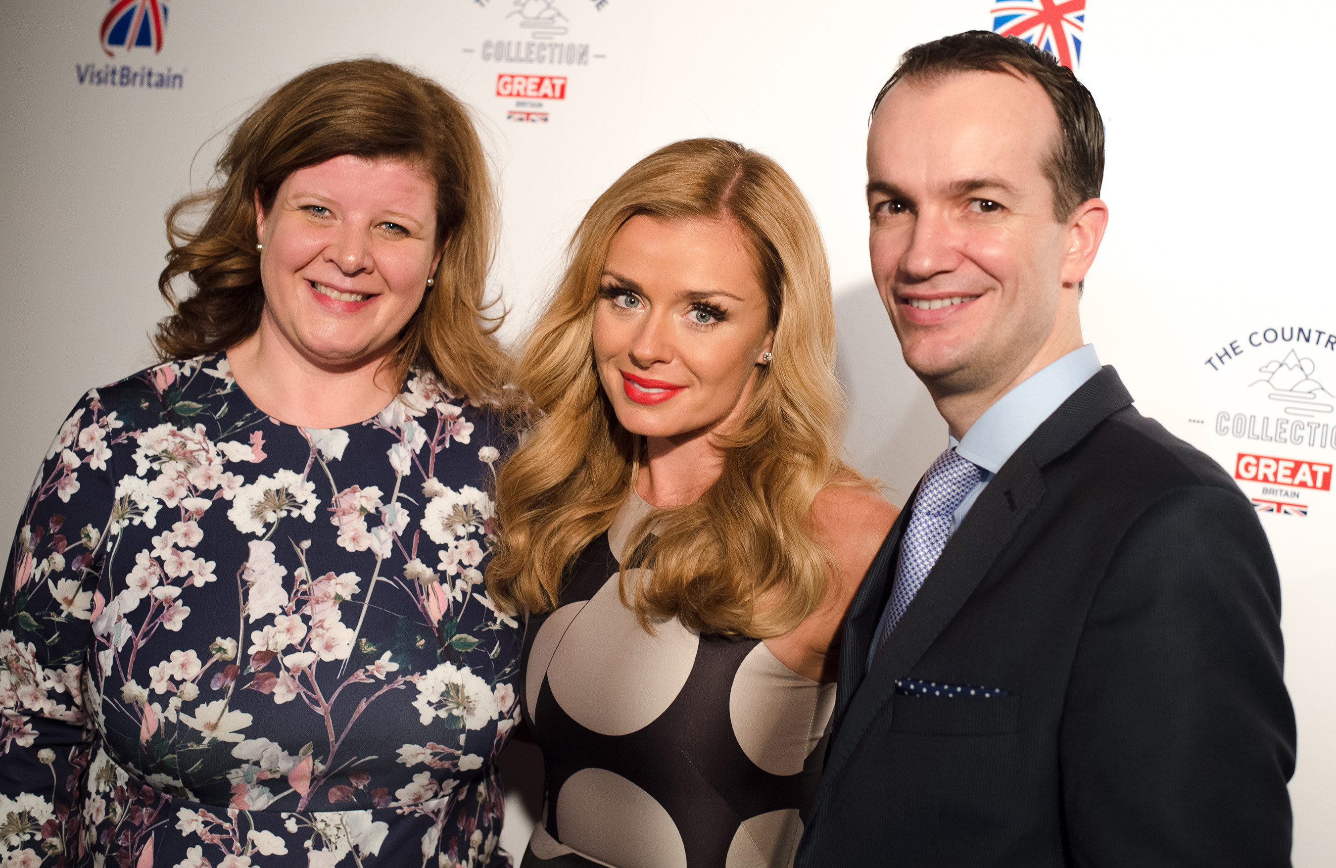 GREAT Britain Campaign ambassador Katherine Jenkins, OBE, launches VisitBritain's new campaign The Countryside Collection with Her Majesty's Consul General Danny Lopez and VisitBritain Vice President, North America, Karen Clarkson in New York City.