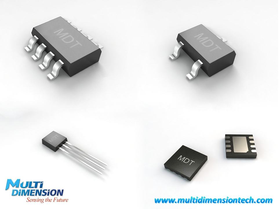 MDT's MR magnetic sensors in standard or custom packages.