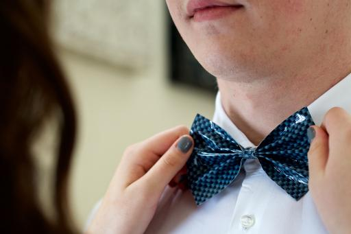 A Duck Tape bow tie is the perfect fun and unique prom accessory