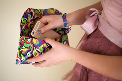 This cute Duck Tape clutch can be customized to fit any color prom outfit