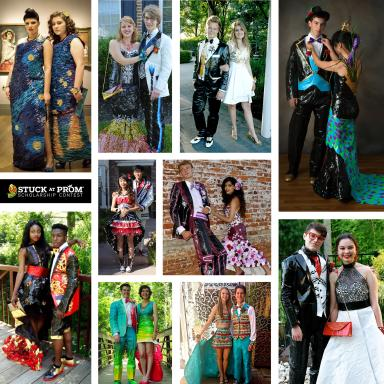 The 2015 Duck brand Stuck at Prom Scholarship Contest Top 10 Finalist Couples