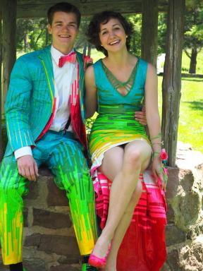2015 Duck brand Stuck at Prom Scholarship Contest Grand Prize Winners, Mia and Chandler