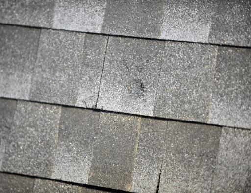 Impact from Hail on Asphalt Shingle