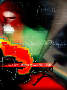 Tornado warning graphic