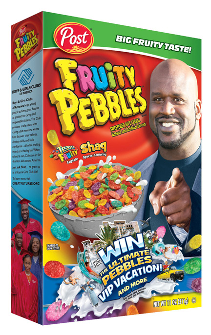 Professional basketball legend Shaquille O'Neal gears up to lead Team Fruity to victory!